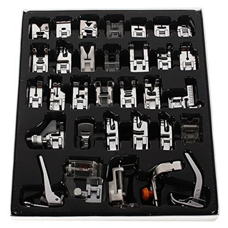 32 Piece Home Sewing Parts Presser Foot Sew Accessories Press Feet high quality Kit Set