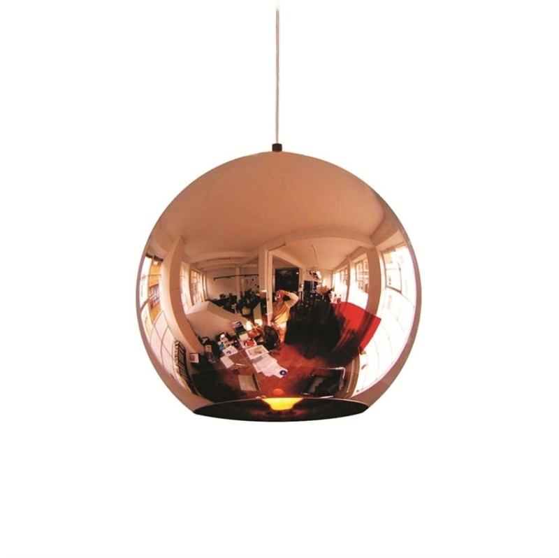 Wonderland LED Chandelier Ball Light Pendant Lamp Glass Ball Light Luster Modern Copper Sliver Shade Mirror Christmas