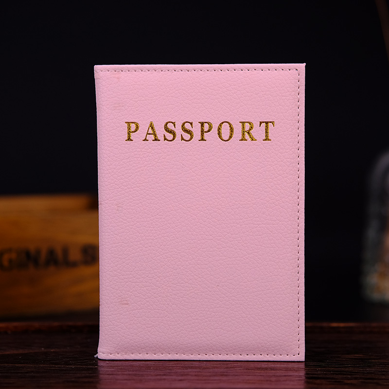 Travel Passport Holder Women Popular Case For Passport Pink Soft Pu Leather Covers On Passport Protector Paspoort Cover