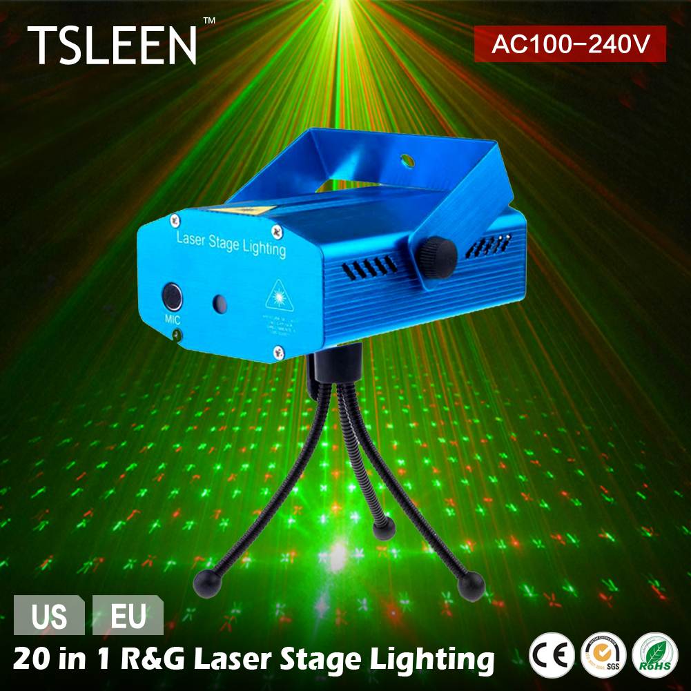 8w 48leds seven color sun pattern plastic stage lamp ac 90 240v - Tsleen Disco Light Mini R G Led Lazer Projector Dj Stage Light For