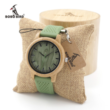 BOBO BIRD Mens Casual Bamboo Wooden Watches With Silicone St
