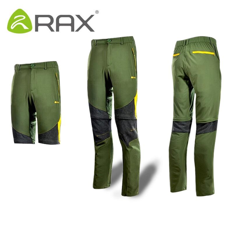 Rax 2019 extérieur hommes femmes séchage rapide randonnée pantalon hommes coupe-vent pêche en plein air Trekking cyclisme pantalon Camping hommes amovible