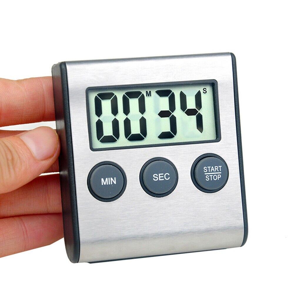 Кухня Таймер Цифровой Магнитный цифровой хронометр ЖК-дисплей цифровой Экран сигнализация с магнитом часы Пособия по кулинарии Обратного ...