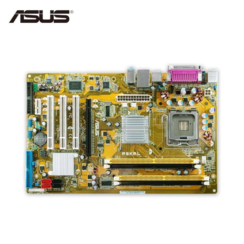 Original Used Asus P5KPL Desktop Motherboard G31 Socket LGA 775 DDR2 SATA2 ATX 100% Fully Test asus g31 g31mx k motherboard supports ddr2 775 pin integrated small plate