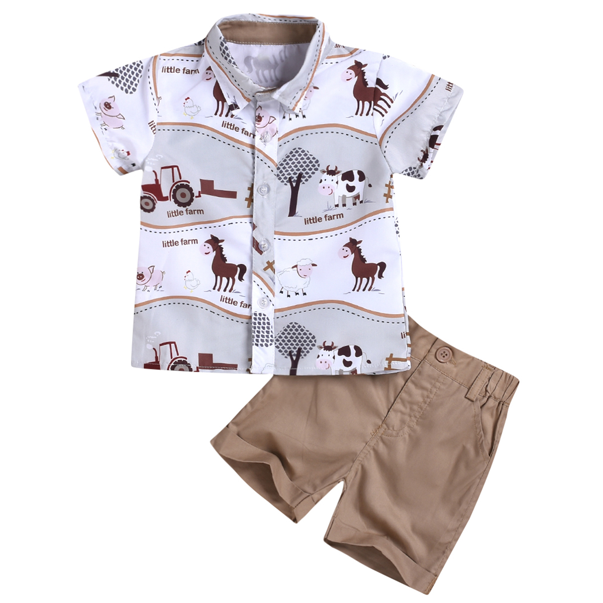 Short Pants 2Pcs Summer Newborn Baby Girl Clothes Rainbow Outfits T-Shirt Tops