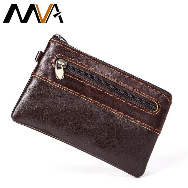 MVA мужские из натуральной кожи кошельки с кармана монету кошелек кожаный бумажник маленький кошелек для монет Для мужчин тонкий кошелек держатель для карт мужской кошельки