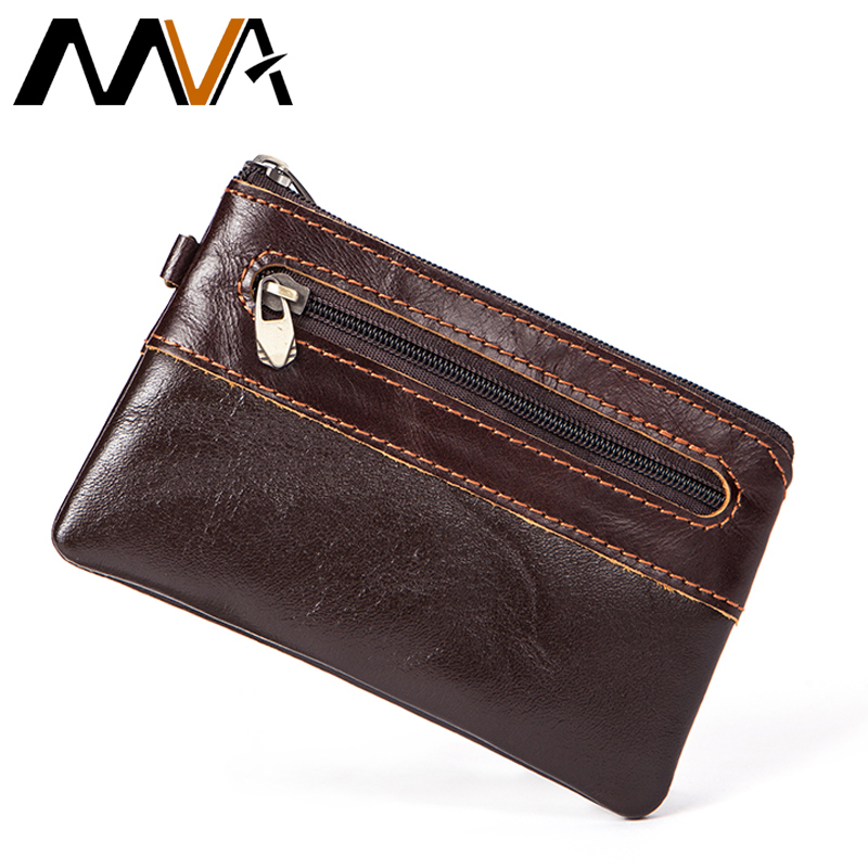 MVA Men Purse Leather Wallet Small Coin Purse Genuine Leather Man Wallets with coin pocket Slim Wallet Card Holder Male Purses baellerry top pu leather men wallets and purses coin purse man famous small short portomonee mini male purses card holder walet