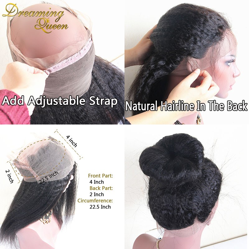 kinky straight 360 Lace Frontal Closure 6