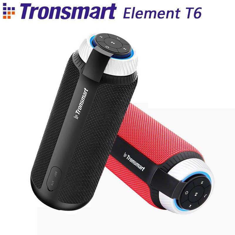 Tronsmart Element T6 Mini Bluetooth Lautsprecher Tragbare Drahtlose Lautsprecher mit 360 Grad Stereo Sound für IOS Android Xiaomi Player