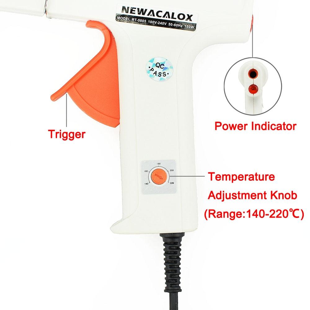 NEWACALOX EU 100-240V 150W karšto lydymosi klijų pistoletas su 1PC - Elektriniai įrankiai - Nuotrauka 4