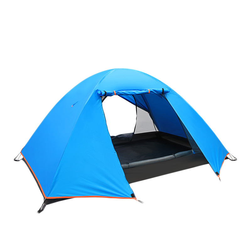 2 Persons Outdoor Camping Hking Tent Waterproof Awning Tent Beach Tent Sunshelter For Fishing Hunting Adventure and Family Party octagonal outdoor camping tent large space family tent 5 8 persons waterproof awning shelter beach party tent double door tents