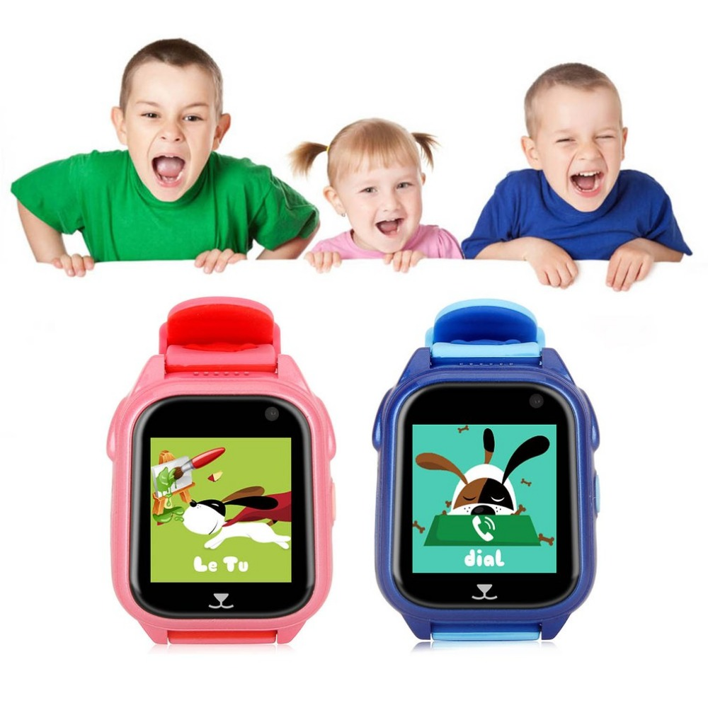 цена GPS Tracker Children Watch Anti Lost SOS Call Kids Smart Watch Child Watch Tracking Bracelet Smartwatch Support SIM Card онлайн в 2017 году