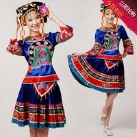 High Quality China Folk Minority Costumes Female Tujia Miao Dance Costume Li And Dong Yao Women