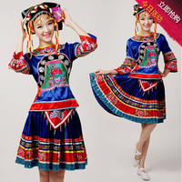 High Quality China Folk Minority Costumes Female Tujia Miao Dance Costume Li And Dong Yao Women