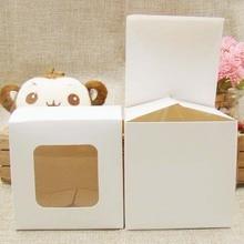 Feiluan пользовательские мульти размер DIY подарочная упаковка и дисплей коробки с прозрачным ПВХ окном для конфеты/Торт/мыло/печенье/Кекс Дисплей Коробка