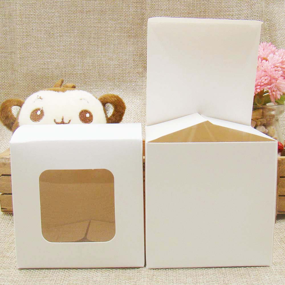 Feiluan Custom Multi Size DIY Gift Packing &display Boxes With Clear Pvc Window For Candy/Cake/Soap/Cookie/Cupcake Display Box