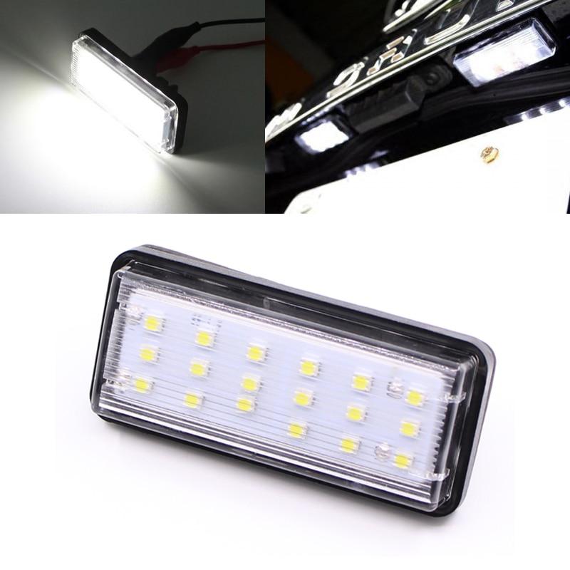 Без ошибок Белый автомобиль светодиодов Количество освещение номерного знака для Lexus LX470 GX470 Тойота Ленд Крузер 120 Прадо Ленд Крузер 200