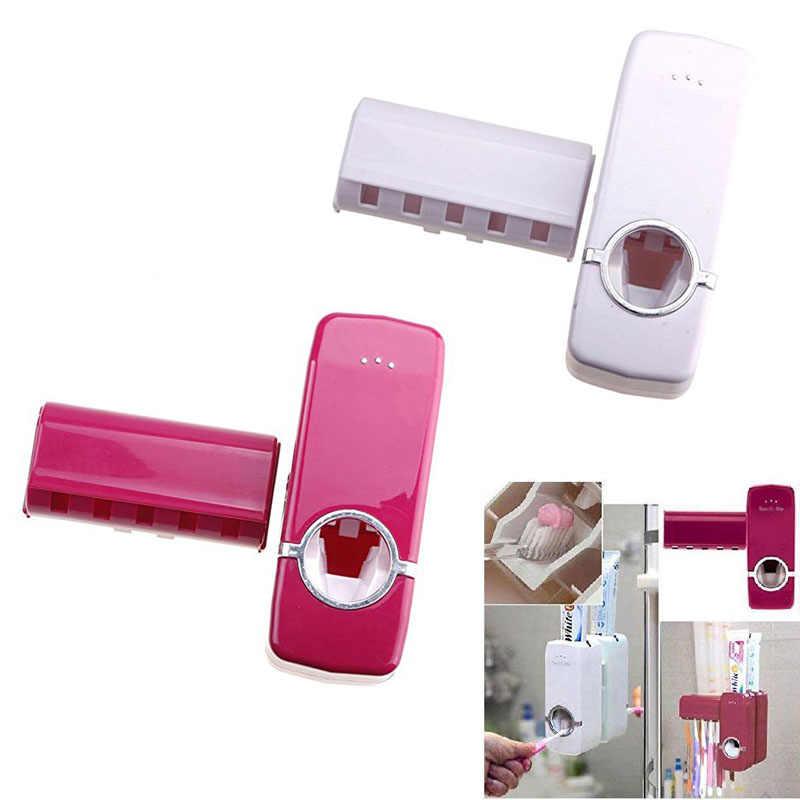 Automatyczny dozownik pasty do zębów 5 szczoteczka do zębów uchwyt do montażu na ścianie szczotka do zębów stojak rodzina łazienka zestaw DTT88