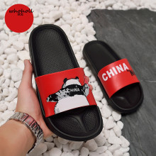 WHOHOLL Men Slippers Summer Man Women Slides China Panda Non-slip Indoor Female Shoes Home Sandals Flip Flops