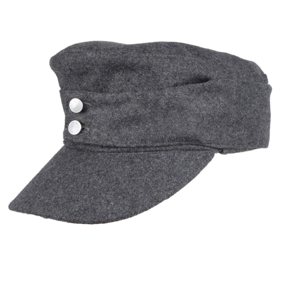 WWII Ejército alemán EM PANZER M43 M1943 gorra de lana de campo gris en tallas-33693