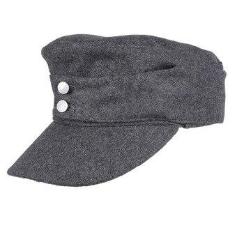 WWII GERMAN ARMY EM PANZER M43 M1943 FIELD WOOL CAP GREY IN SIZES-33693 - sale item Hats & Caps
