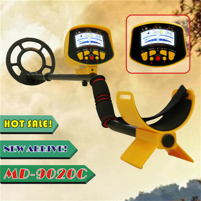 Portable Light weight Underground Metal Detector Length Adjustable Gold Treasure Metal Finder Hunter Under Shallow Water MD9020C md 3010ii lcd back light display underground metal detector treasure hunter hobby upgraded metal detectors md3010ii