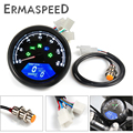 12000RPM Motorcycle Speedometer LCD Screen Digital Odometer Tachometer Gauge Gear Indicator for Cruiser Chopper Cafe Racer