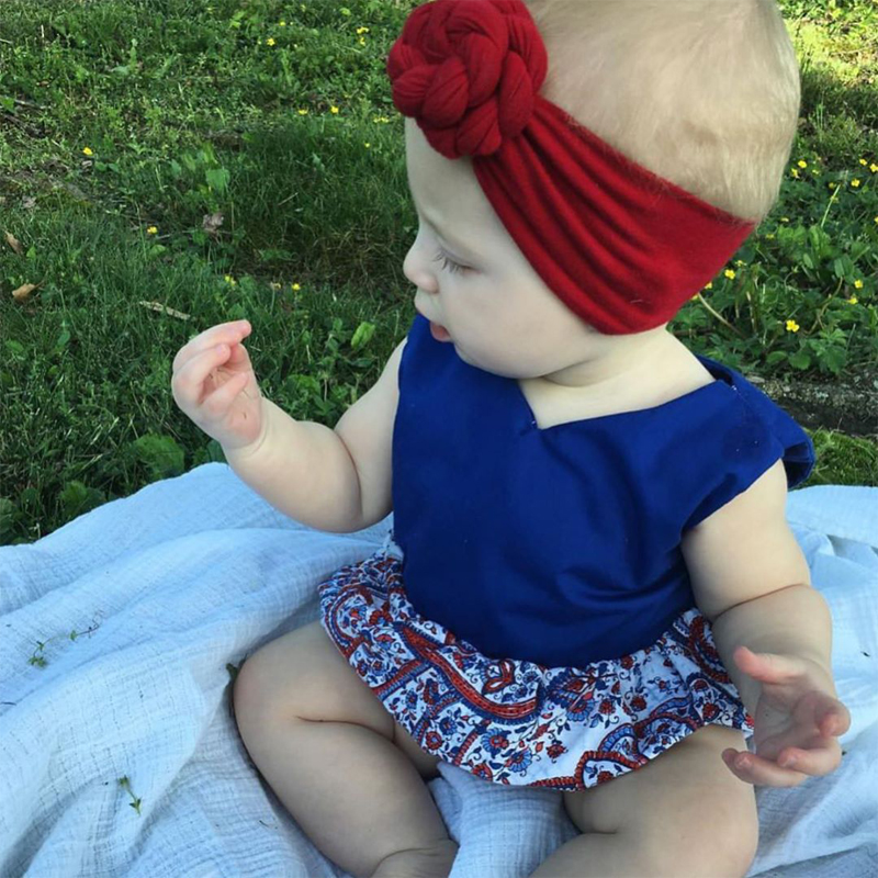Bebe Girl Turban Headband Cotton Bow knot Kids Headwrap Hair Bow Hairband Retro Children Elastic Headwear Hair Accessories 1 pc women fashion elastic stretch plain rabbit bow style hair band headband turban hairband hair accessories
