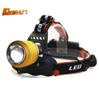 HGhomeart XPE Blue And White Dual Light Source T6 LED Light Headlights Zoom Long Range Fishing