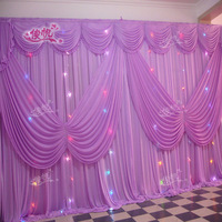 Top rated customized size back drop curtain for wedding decorations ,birthday decorations,Wedding Curtain,Stage Backdrop