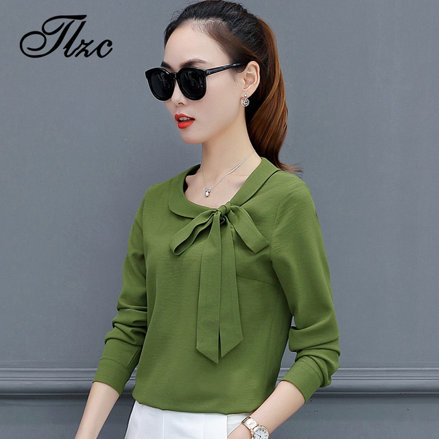 0aeaf75e35000 US $9.0 |TLZC 2018 Spring Women Chiffon Blouses White Long Sleeve Size S XL  Elegant Bow Collar Summer Offer Lady Shirt-in Blouses & Shirts from ...