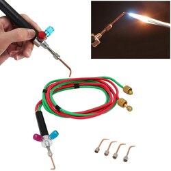 شعلة لحام صغيرة للمجوهرات و أدوات طبيب الأسنان مع 5 نصائح معدات سميث الذهب لحام الشعلة Oxygen