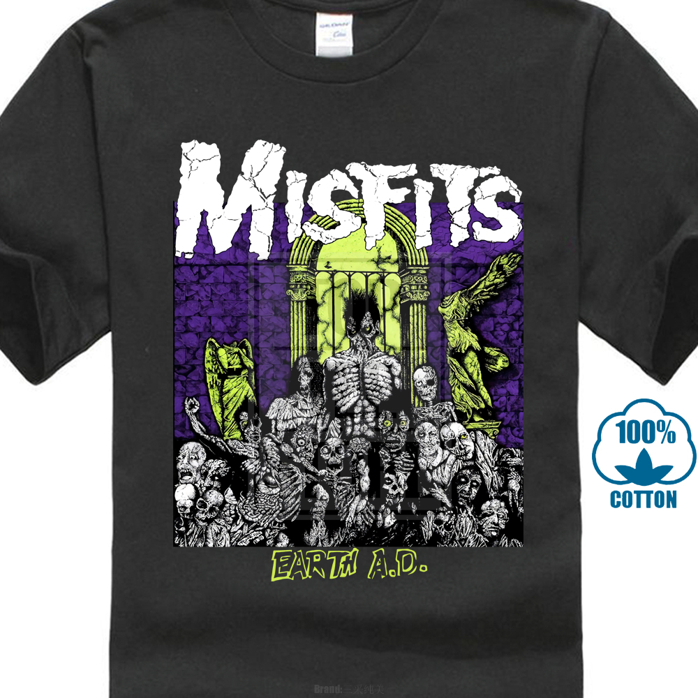 Kilsd Boys /& Girls Junior Funny Misfits Long Sleeve Tshirt Black