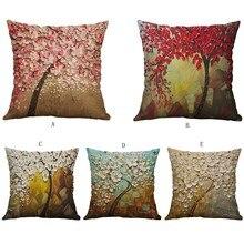 Linge Simple créatif belle taie doreiller voiture oreiller couvre carré 45cm * 45cm Polyester taie doreiller maison décorative de haute qualité