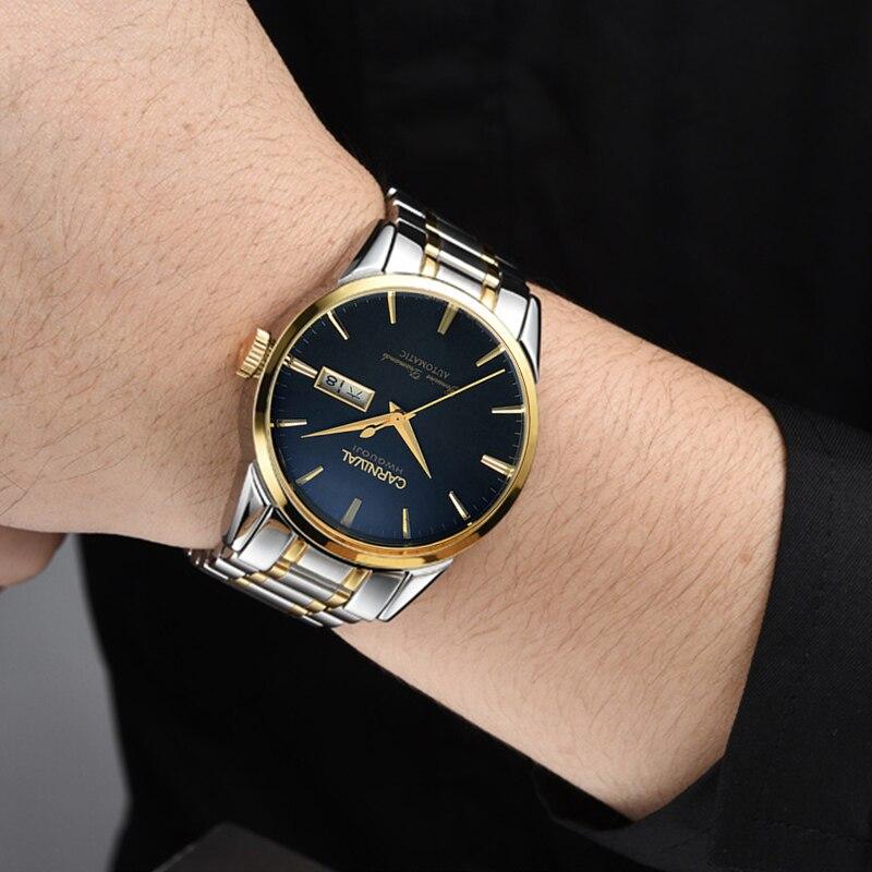 Здесь можно купить  Switzerland Carnival Top Brand Luxury Men Watches Automatic Self-Wind Watch Men Sapphire reloj hombre relogio clock C8646G-10  Часы