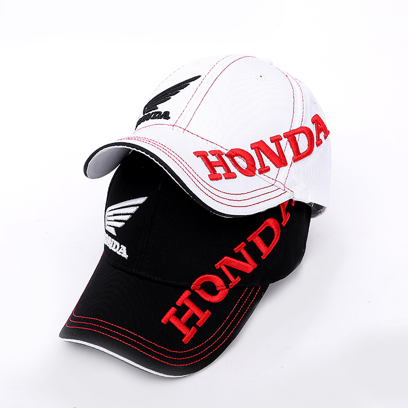 2019 New Black White HONDA Motorcycle Embroidery   Baseball     Cap   Hat Men Adjustable Snapback   Caps   Casual Sun Hats Trucker Hats