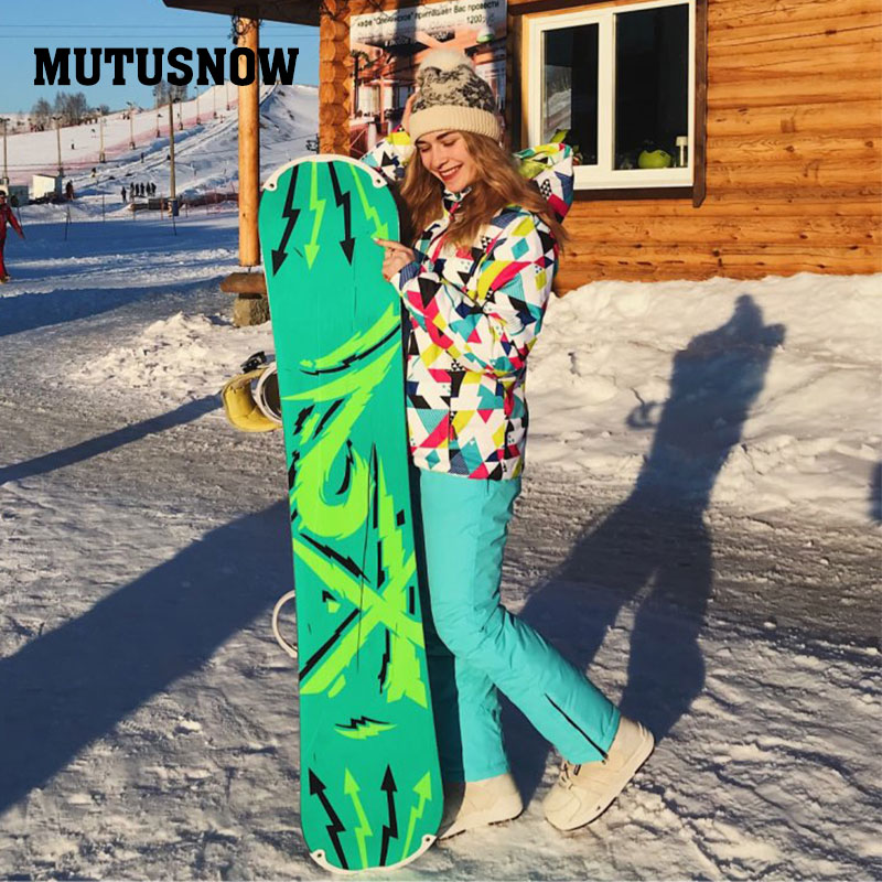 Winter Ski Suit Women 2018New High Quality Windproof Waterproof Warmth Snow Sets Jackets And Pants Skiing And Snowboarding Suits 2018 new lover men and women windproof waterproof thermal male snow pants sets skiing and snowboarding ski suit women jackets