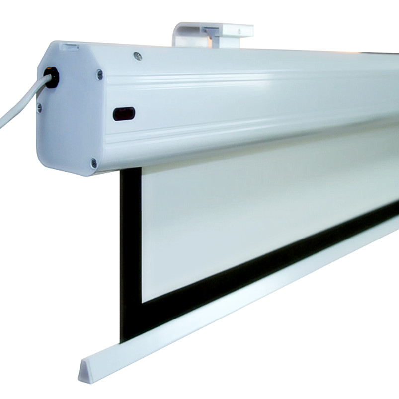 110 16 10 Super Deluxe Electric Motorized font b Projector b font Screen Cinemawhite fiberglass with