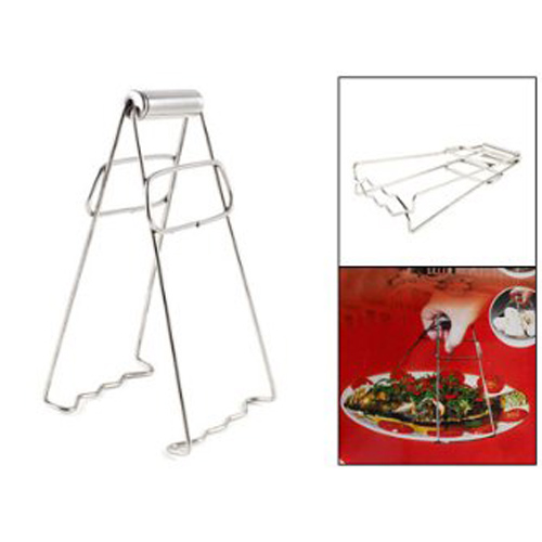 LHLL!Stainless Steel Trapezoidal Wavy Double Feet Hot Pot Dish Plate Clip