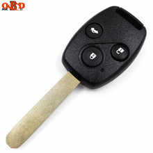 HKOBDII Wholesale 3 Buttons Remote Car Key with 46 Electronic chip(433 MHZ) for Honda Civic(with LOGO)