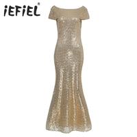 Iefiel فستان طويل الترتر ل الشرف الشمبانيا اللباس الطابق طول الأمومة النساء الحوامل عيد حزب أثواب اللباس الرسمي