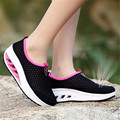 New Hot Sale Mesh Breathable Spring Summer Shoes Women Comfortable Thick Flat Heel Shoe Outdoor Casual Sport Shoes Mujer Zapatos