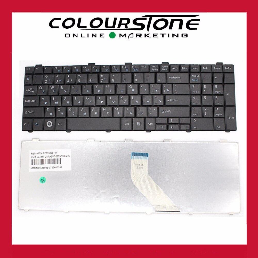 NEW For Fujitsu Lifebook A530 AH530 A531 AH531 NH751 Keyboard RU Russian black CP515905-01 MP-24AA3US-D853