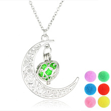 2019 New  Aromatherapy Diffuser Necklace Aroma Eggs Pendant Fashion moon Chromatic Ball for women