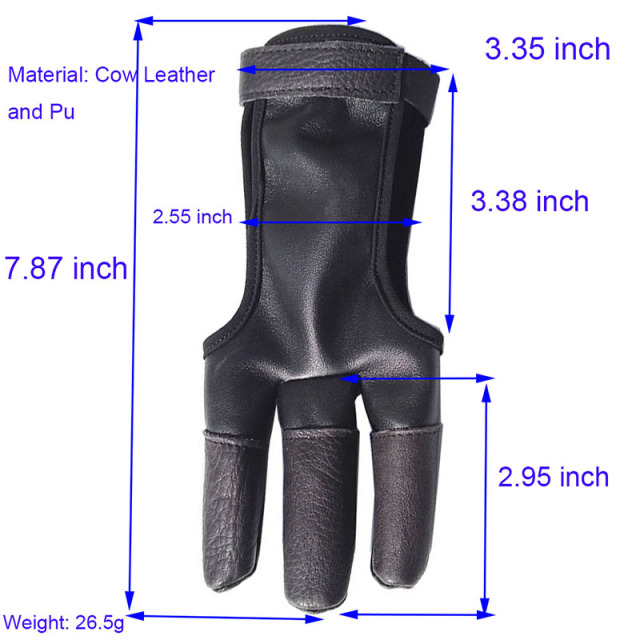 1pc Archery Finger Guard Protector RH/LH Finger Saver Leather Glove Protective The Finger Bow Hunting Shooting Accessories-in Bow & Arrow from Sports & Entertainment on Aliexpress.com | Alibaba Group