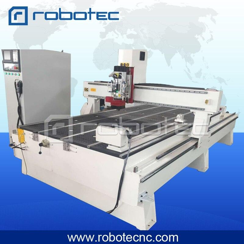 ROBOTEC  Atc Cnc Router Auction , 4 Axis Cnc Wood Carving Machine , Cnc Router Design For Wood Acrylic Mdf Pvc Pcb