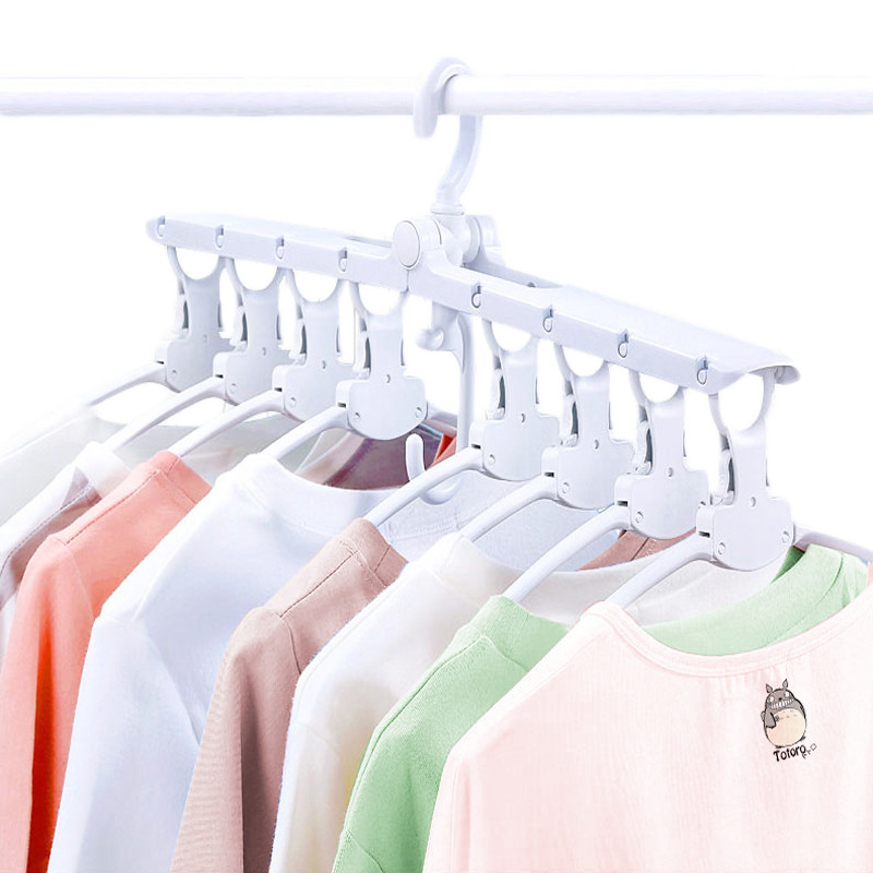 8 In 1 Folding Clothes Hangers 360 Degree Rotating Multifunction Space Saving Storage Hanger Travel Magic Hangers For Clothes