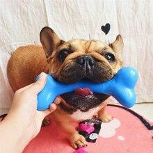 Pet Toy Dog Chew Bones shape Molar Teeth Clean Bite Resistant Rubber Pig Bone Toys