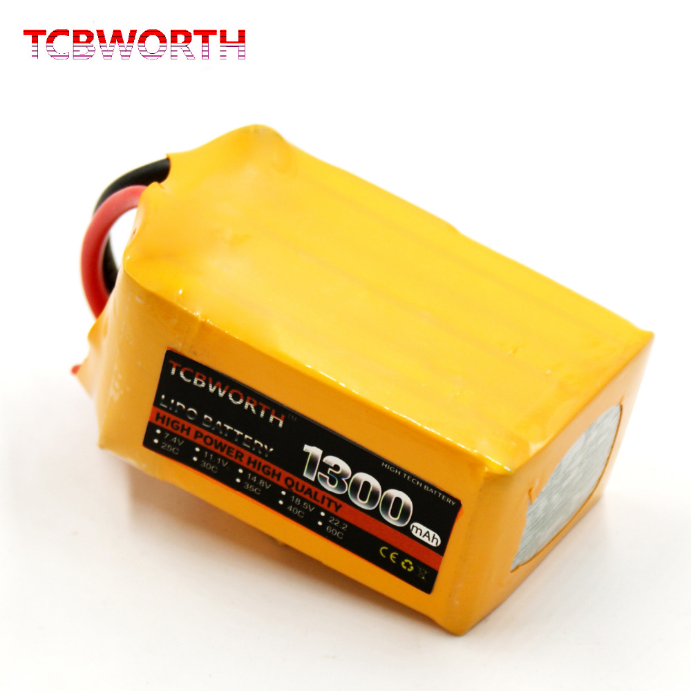 6S 22.2V 1300mAh 40C-80C RC High Rate LiPo battery For RC Helicopter Airplane Car Boat Quadrotor RC Li-ion battery