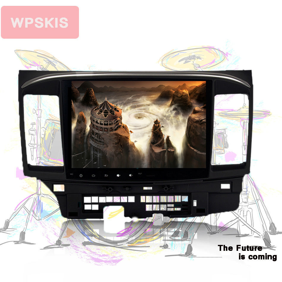 10 touch screen Android 9 0 Car GPS navi pc unit for Mitsubishi Lancer 2007 music